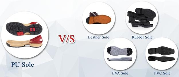 مقایسه انواع زیره کفش